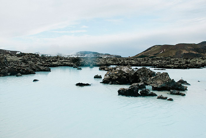 Just outside the Blue Lagoon spa